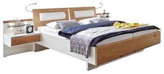 BETTANLAGE 180/200 cm  in Weiß, Eichefarben  - Eichefarben/Weiß, KONVENTIONELL, Holz/Holzwerkstoff (180/200cm) - Venda