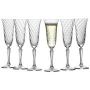 SEKTGLAS-SET 6-teilig - Klar, Trend, Glas (0,185cm) - Leonardo