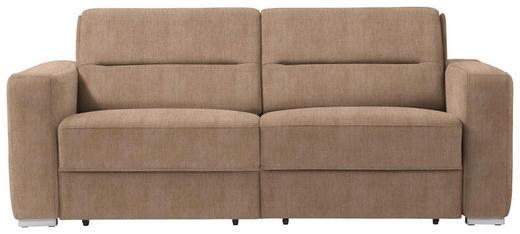 SCHLAFSOFA in Textil Hellbraun - Hellbraun, KONVENTIONELL, Textil/Metall (202/86/92cm) - Sedda