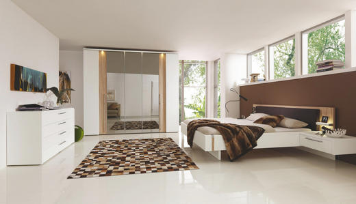 SCHLAFZIMMER Braun, Sonoma Eiche, Weiß - Braun/Weiß, Design (180/200cm) - Musterring