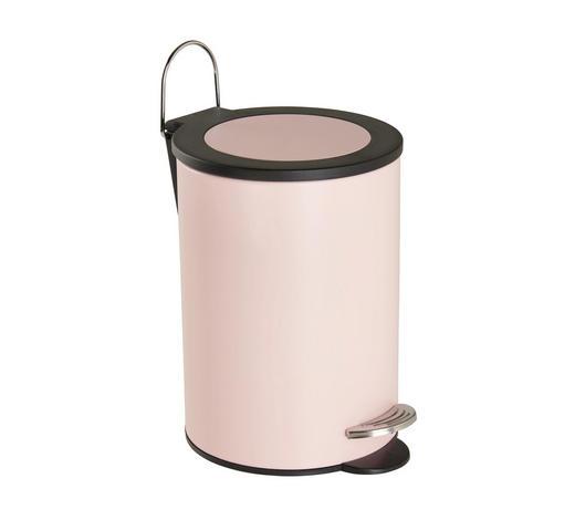 TRETEIMER Metall - Schwarz/Rosa, Basics, Kunststoff/Metall (17/24cm) - Sadena