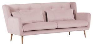 ZWEISITZER-SOFA in Textil Rosa  - Rosa/Naturfarben, Design, Textil (175/86/90cm) - Carryhome