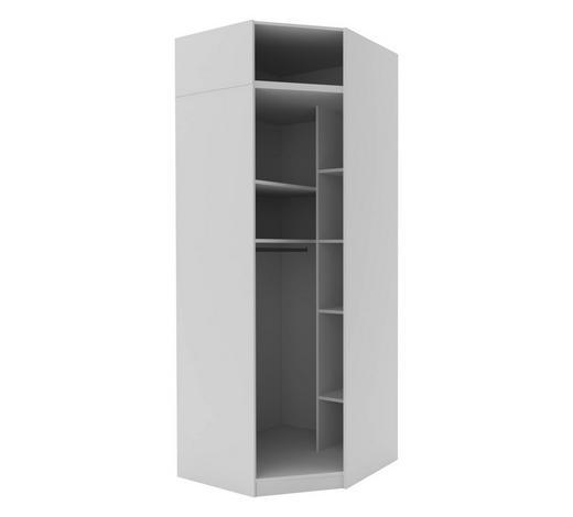 ECKSCHRANKKORPUS in Weiß  - Weiß, MODERN, Holzwerkstoff (91,1/242,2/91,1cm) - Hom`in