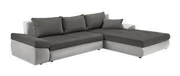 WOHNLANDSCHAFT in Textil Grau, Beige  - Beige/Schwarz, Design, Kunststoff/Textil (313/215cm) - Carryhome