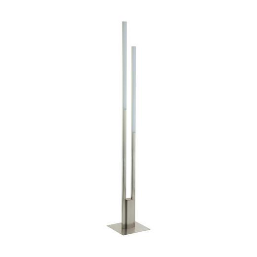 LED-STEHLEUCHTE - Weiß/Nickelfarben, KONVENTIONELL, Kunststoff/Metall (28/175,5cm)