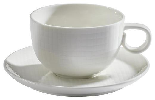 KAFFEETASSE MIT UNTERTASSE - Creme, Design, Keramik (0,2l) - ASA