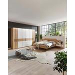 SCHLAFZIMMER Eichefarben, Magnolie  - Eichefarben/Magnolie, Design, Glas/Holz (180/200cm) - Valnatura