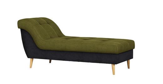 HOCKER Flachgewebe Anthrazit, Gelb - Anthrazit/Gelb, Design, Holz/Textil (170/78/79cm) - Carryhome