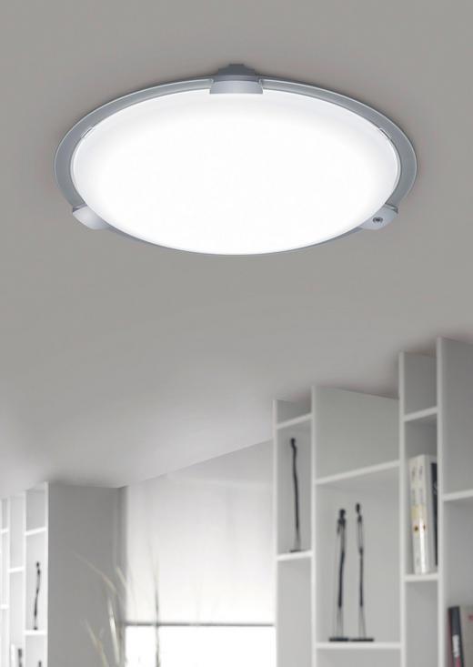 LED-DECKENLEUCHTE - Weiß, Design, Metall (75/14cm) - Ambiente