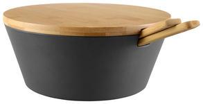 SALATSCHÜSSEL Kunststoff  - Grau, Design, Holz/Kunststoff (31,5/26/12,5cm) - Homeware