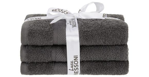 Handtuch Fiolina - 3er Pack - Anthrazit, MODERN, Textil (50/100cm) - Luca Bessoni
