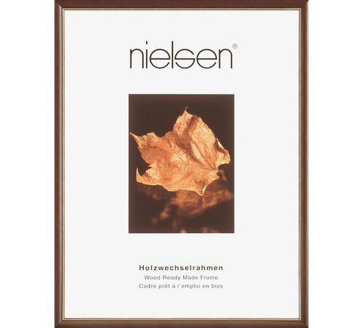 BILDERRAHMEN  Goldfarben, Dunkelbraun  - Dunkelbraun/Goldfarben, Basics, Holz (24/30cm) - Nielsen