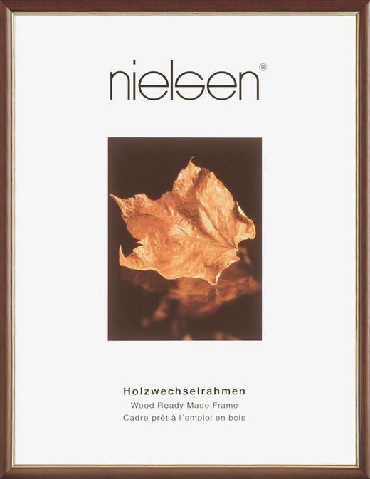 BILDERRAHMEN  Dunkelbraun, Goldfarben - Dunkelbraun/Goldfarben, Holz (24/30cm)