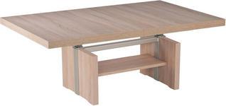 COUCHTISCH in Holzwerkstoff, Metall 110-170/68/53-72 cm - Eichefarben, Design, Holzwerkstoff/Metall (110-170/68/53-72cm) - Venda