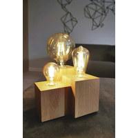 LAMPA STOLNÍ - hnědá, Natur, dřevo (20/15/20cm)