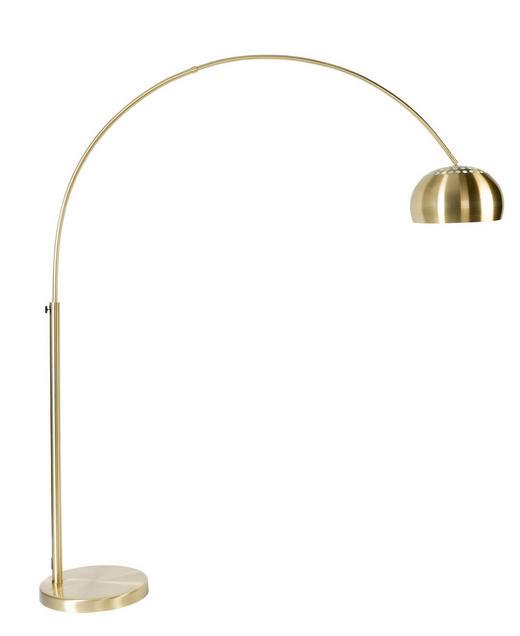 BOGENLEUCHTE - Goldfarben, Design, Metall (205cm)