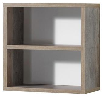 REGAL Naturfarben, Weiß - Naturfarben/Weiß, KONVENTIONELL, Holzwerkstoff (49/49/25cm) - Carryhome