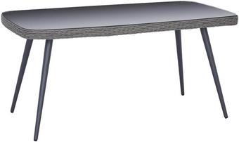 STOL VRTNI - siva, Design, staklo/metal (160/74/90cm) - AMBIA GARDEN
