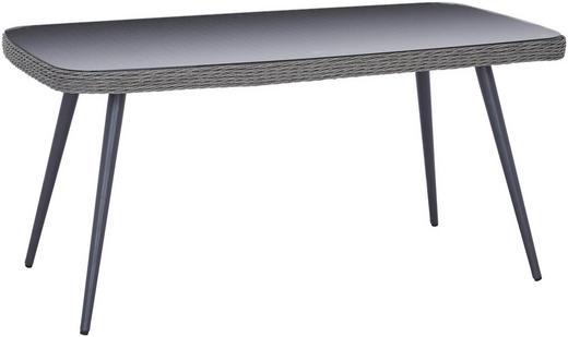 TRÄDGÅRDSBORD - grå, Design, metall/glas (160/74/90cm) - AMBIA GARDEN