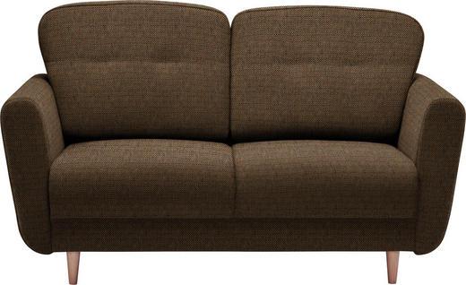ZWEISITZER-SOFA Braun, Orange - Braun/Orange, Design, Holz/Textil (154/90/93cm) - Hom`in