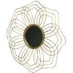 DEKOSPIEGEL     - Messingfarben, Trend, Glas/Metall (50/50/3,5cm) - Ambia Home