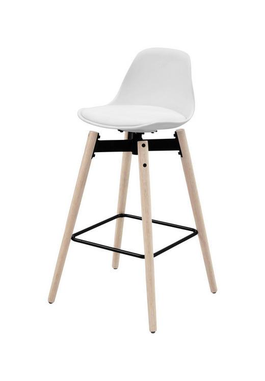 TRESENSTUHL Lederlook Eiche massiv Eichefarben, Weiß - Eichefarben/Weiß, Design, Holz/Kunststoff (48,5/94/49cm) - Carryhome