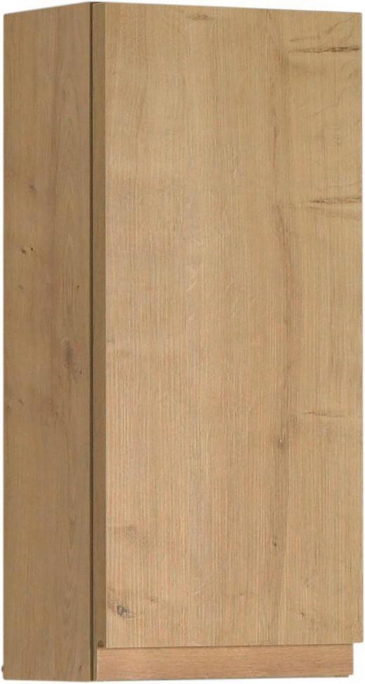 OBERSCHRANK 30/64/17 cm - Eichefarben, Design, Glas/Holzwerkstoff (30/64/17cm)
