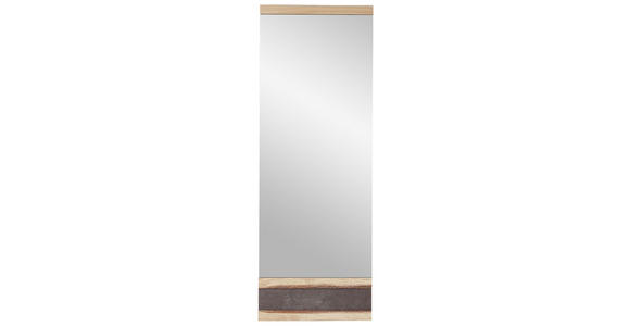 GARDEROBE Eichefarben  - Eichefarben, Basics, Glas/Holz (246/202/39cm) - Linea Natura