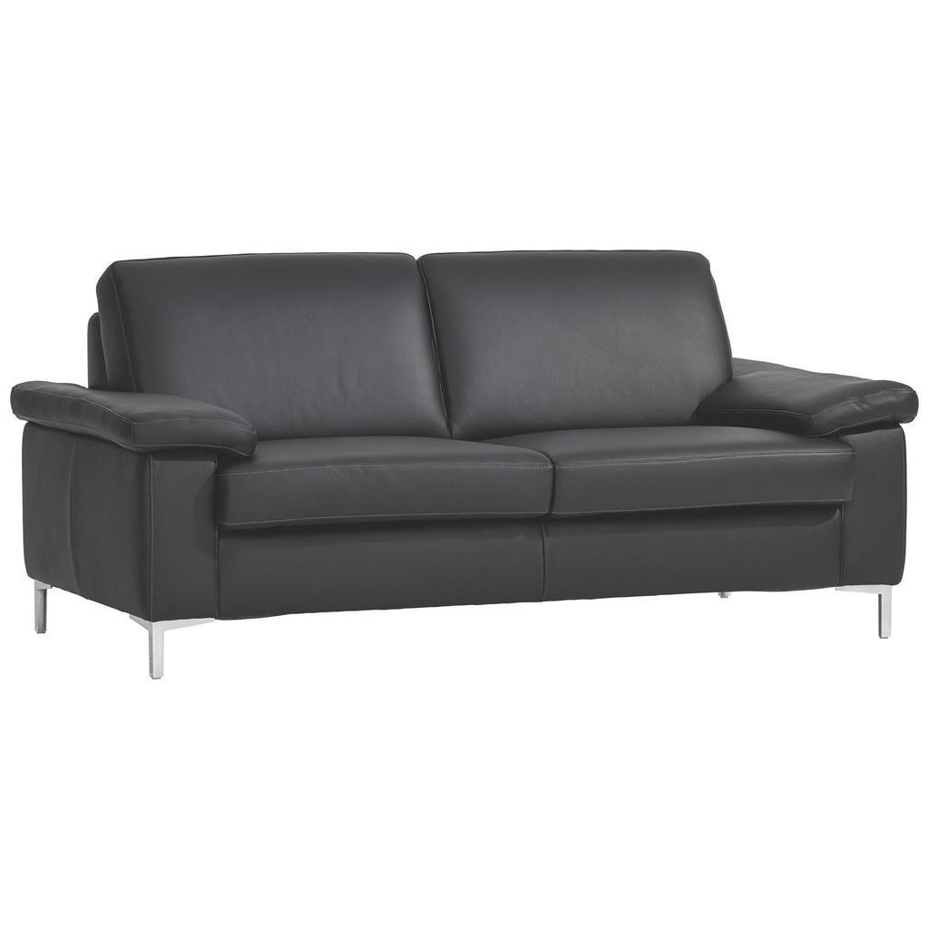Musterring Zweisitzer Sofa Echtleder Schwarz Sofas Ecksofas