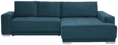 WOHNLANDSCHAFT in Textil Blau  - Blau/Silberfarben, Design, Holz/Textil (293/195cm) - Cantus