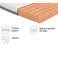 GELSCHAUMMATRATZE Quantum 180 roll-pack 90/200 cm  - Weiß, Basics, Textil (90/200cm) - Schlaraffia