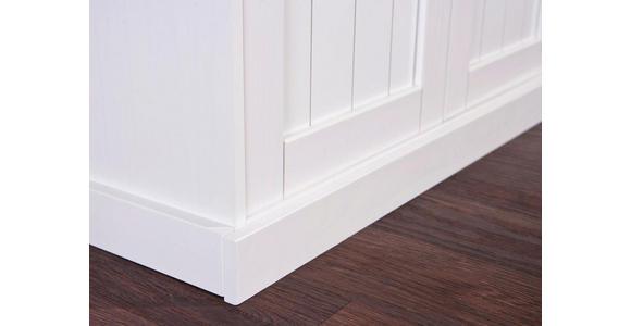 KREDENZ  in massiv Kiefer Weiß  - Weiß/Braun, LIFESTYLE, Holz (131/191/45cm) - Carryhome
