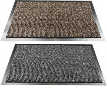 OTIRAČ ZA OBUĆU - Siva/Braon, Osnovno, Tekstil/Plastika (60/80cm)