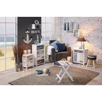 DEKOANKER - Blau/Naturfarben, LIFESTYLE, Holz/Textil (40/59/3,5cm) - Ambia Home