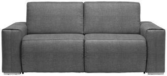 SCHLAFSOFA Grau - Chromfarben/Grau, Design, Textil/Metall (210/90/102cm) - Dieter Knoll