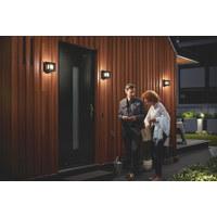 MYGARDEN LED-AUßENWANDLEUCHTE Schwarz  - Schwarz, Design, Kunststoff/Metall (13/13/13cm) - Philips