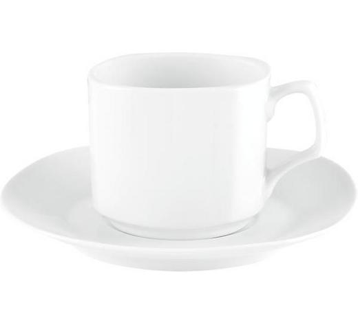 KAFFEETASSE MIT UNTERTASSE - Weiß, Basics, Keramik - Homeware
