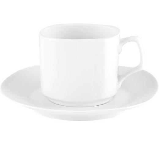 ŠÁLEK NA KÁVU S PODŠÁLKEM, porcelán - bílá, Basics, keramika - Homeware