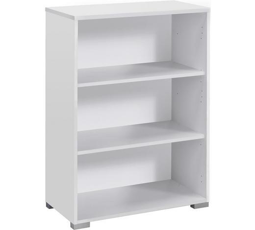 AKTENREGAL - Silberfarben/Weiß, KONVENTIONELL, Holzwerkstoff/Kunststoff (80/110/40cm)