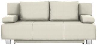 SCHLAFSOFA in Textil Naturfarben - Chromfarben/Naturfarben, Design, Textil/Metall (197/88/89cm) - Xora