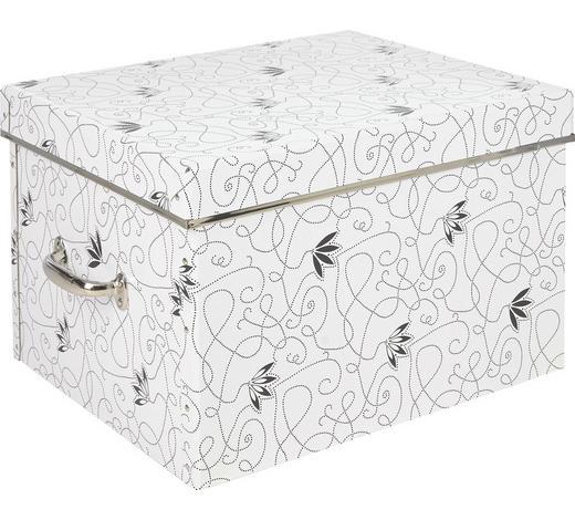KARTONAGE  - Schwarz/Weiß, Basics, Karton (42/28/36cm)