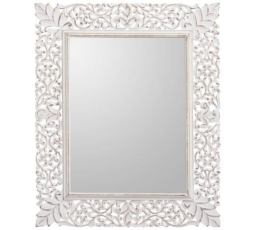 NÁSTĚNNÉ ZRCADLO, 68/84/2 cm,  - bílá, Trend, kov/kompozitní dřevo (68/84/2cm) - Landscape