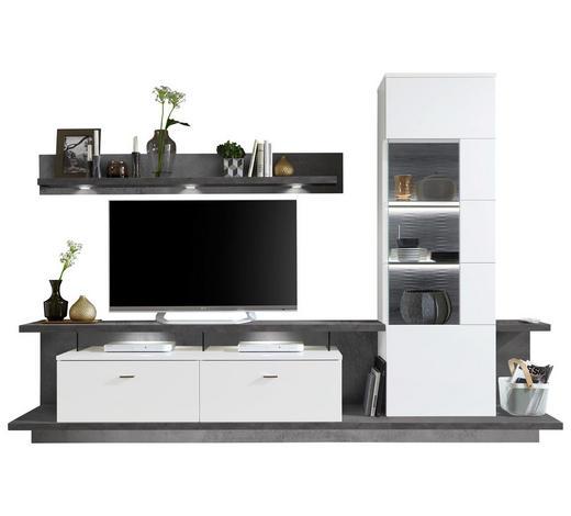 Wohnwand In Graphitfarben Weiß Online Kaufen Xxxlutz
