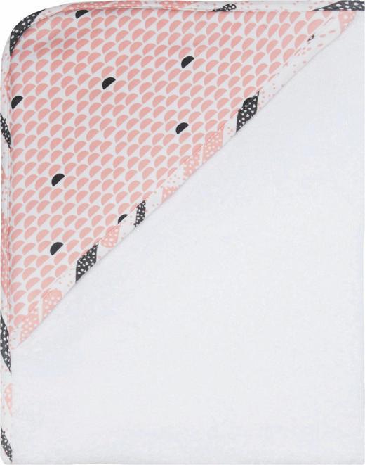 Luma Kapuzenbadetuch - Hellrosa/Altrosa, Basics, Textil (75/85cm)