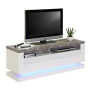 LOWBOARD 140/50/40 cm  - Weiß/Grau, Design, Glas/Holzwerkstoff (140/50/40cm) - Carryhome