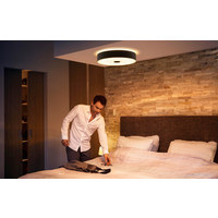 LED-DECKENLEUCHTE HUE FAIR - Schwarz, Design, Metall (44,4/9,8/44,4cm) - Philips