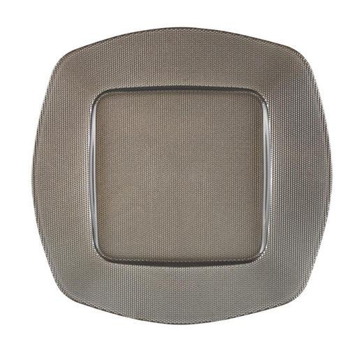 PLATZTELLER  34 cm - Hellgrau, Design, Glas (34cm) - Novel