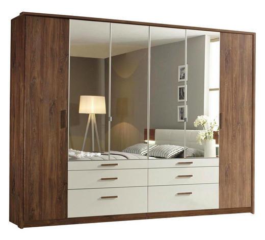 DREHTÜRENSCHRANK in Weiß, Eichefarben - Eichefarben/Weiß, Design, Glas/Holzwerkstoff (271/210/62cm) - Carryhome
