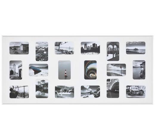 COLLAGEN-BILDERRAHMEN  Weiß  - Weiß, Basics, Metall (109,2/49,5cm) - Nielsen