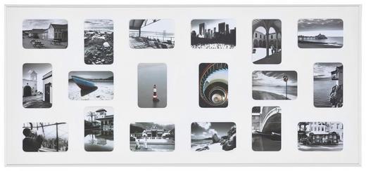 COLLAGEN-BILDERRAHMEN  Weiß - Weiß, Basics, Metall (109,2/49,5cm)